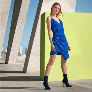 NEW Cushnie Target Royal Blue Leopard Slip Dress